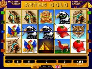 """Игровой слот онлайн """"Aztec Gold"""" (Пирамиды)"""